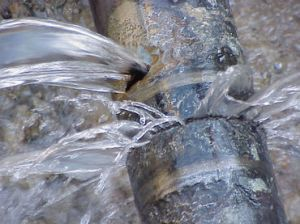 fuga de agua